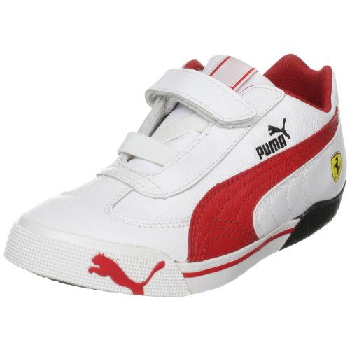 PUMA Kids' Speed Cat 2.9 Lo SF V Sneaker,White/Rosso Corsa,8 M US Toddler