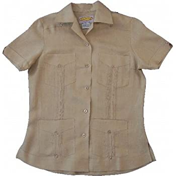 Women's Light Brown Guayabera
