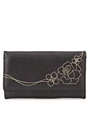 M&S Collection Floral Stitched Purse