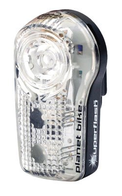 Planet Bike 3034-1 Blinky Superflash .5 Watt Led With 2 Red Led Tail Lights (Black/Clear Case) front-529957