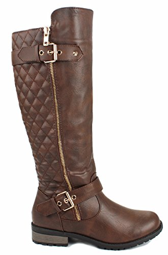 forever-mango-21-womens-winkle-back-shaft-side-zip-knee-high-flat-riding-boots-brown-9