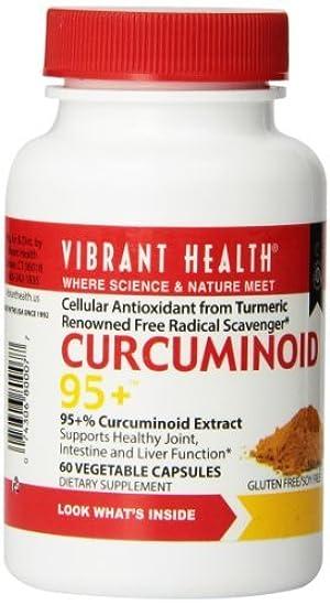 Vibrant Health, Curcuminoid - 95+, 250 mg, 60 Veggie Caps by Vibrant Health