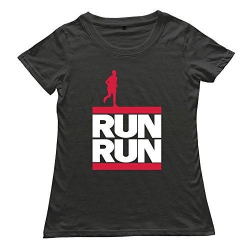 Goldfish Women'S Awesome Brand New Run Run T-Shirt Black Us Size S