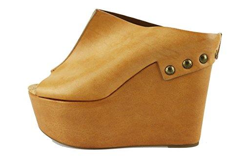 VIC sandali zeppe donna cuoio pelle AH889 (37 EU)