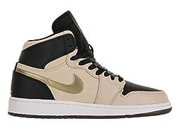 Nike Jordan Kids Air Jordan 1 Ret Hi Prem Hc Gg Prl Wht/Mtlc Gld Str/Blk/White Basketball Shoe 6 Kids US
