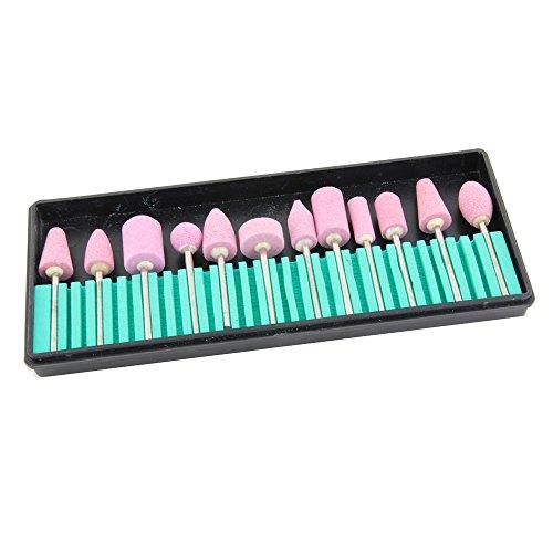 41Z1eDQihoL - BEST BUY #1 12 Styles / Set Nail Art Polishing Grinding Head Tools Nail Art Ceramic Electric Drill Bits