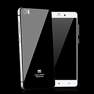 AEMA (TM) HIGH QUALITY Tempered Glass Back for Xiaomi MI4I- SILVER Aluminium Side Bumper Cover Replacement Case