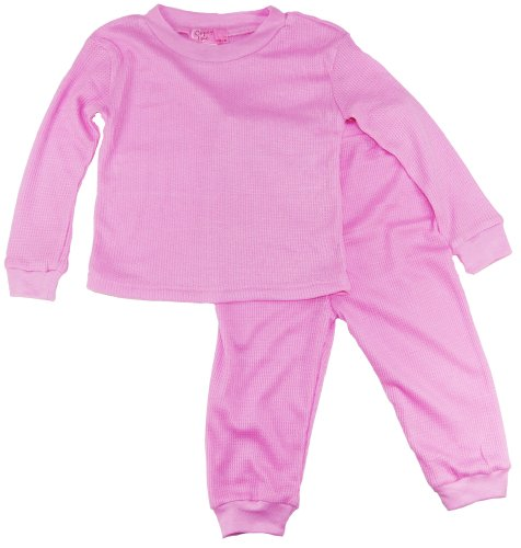 Coney Island Baby Girls Thermal Sleepwear Pajamas 2Pc 3-6M Pink front-590036