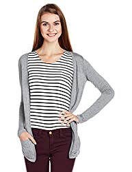 People Women's Blouson Jacket (P20401116076383_Light Grey_X-Large)