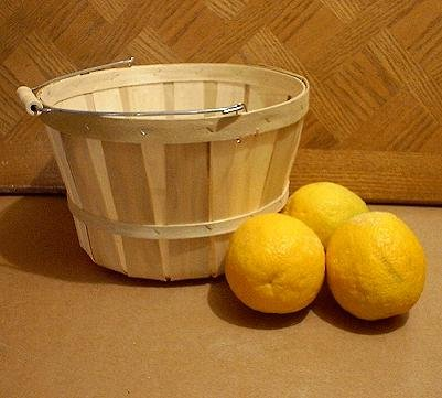 Apple Baskets With Wooden Spool Handle
