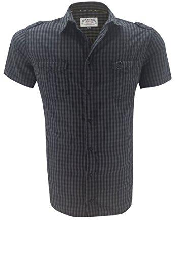 Replika -  Camicia Casual  - Uomo nero XXXX-Large