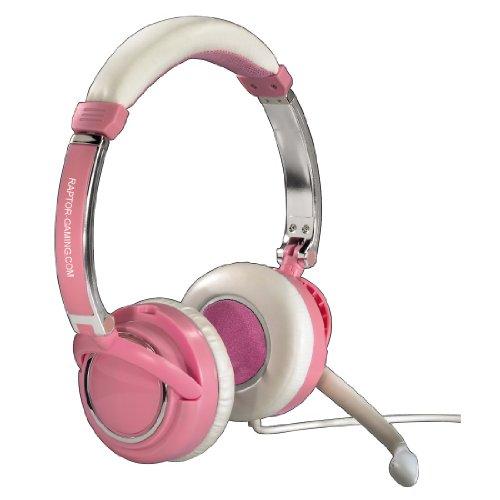 Raptor Gaming LH2 Ladies Edition Stereo Kopfhörer (102dB, 50mW) pink/weiß