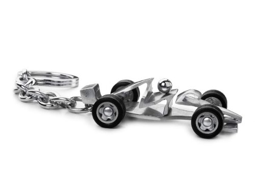 M.Schumacher Stainless Steel Racing Car Key Chain