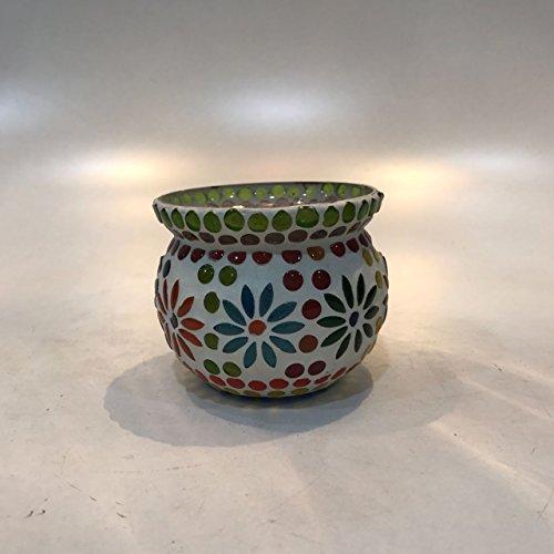 Dlite Crafts Multicolor Polka Design Home Decorative Votive Candle Holder, Set Of 2 PCs - B06XYJQ65M