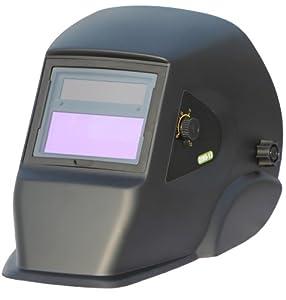 ArcPro 20702 Auto-Darkening Solar Powered Welding Helmet with Grinding Mode, Black from Maxworks