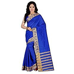 Dealseven Fashion New Blue Colure Cotton Woman Silk Saree
