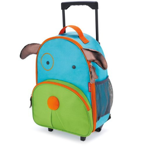 Skip Hop Zoo Little Kid & Toddler Travel Rolling Luggage Backpack (Ages 3+), Multi, Darby Dog