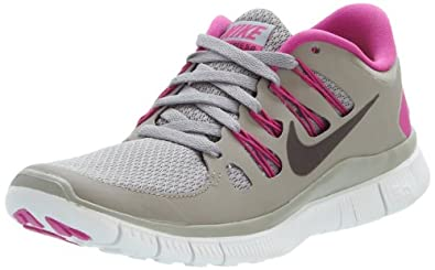 Nike Women's Wmns Free 5.0, MN GREY/NWSPRNT -CLUB PINK SMMT WHITE, 6 M US