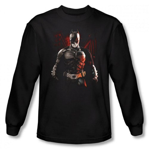 Dark Knight Rises - Batman Battleground Men's Long Sleeve T-Shirt
