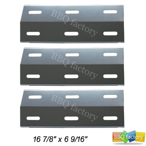 99341(3-pack) Stainless Steel Heat Plate Replacement for Select Ducane Gas Grill Models