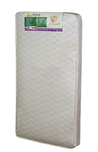 Dream On Me Twilight 80 Coil Spring Crib and Toddler Bed Mattress, Wave Pink, 5""