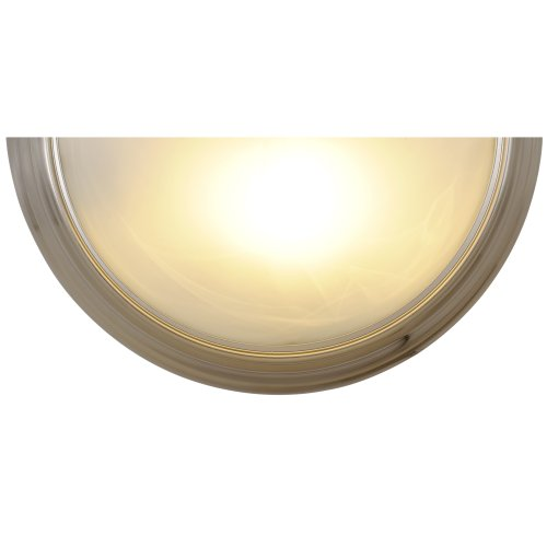 AF Lighting 617588 14-3/4-Inch W by 7-1/2-Inch H by 4-Inch E Lunar Bay Lighting Collection Wall Sconce, Brushed Nickel