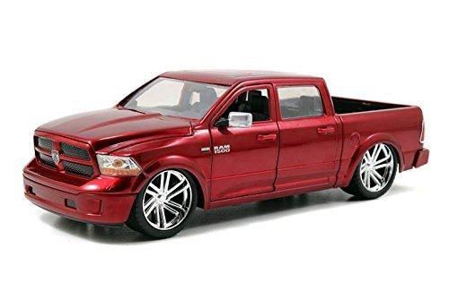 2014-dodge-ram-1500-custom-jada-97133r-metallic-red-124-die-cast
