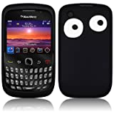 Xylo Black Crazy Eyes Silicone Cover / Skin / Case for the BlackBerry Curve 8520 / 9300 3G Mobile Phone.
