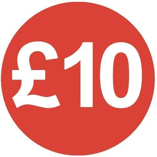 Audioprint Lot Petit 13mm £10prix Stickers-10000PACK