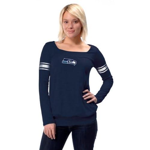 Amazon.com : Seattle Seahawks Women's Long Sleeve Armband Jersey Top