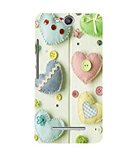 printtech Hearts Buttons Back Case Cover for Micromax Canvas Juice 3 Q392