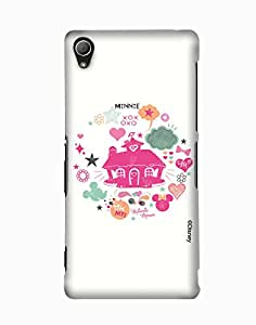 Pick Pattern with Exclusive DISNEY Characters Back Cover for Sony Xperia Z3