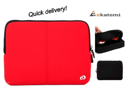 [Fitt] RED | Prevailing 13-inch Laptop Bag / Sleeve for Sony 13.3 VAIO VPCSC41FM/S. Largesse Ekatomi screen cleaner