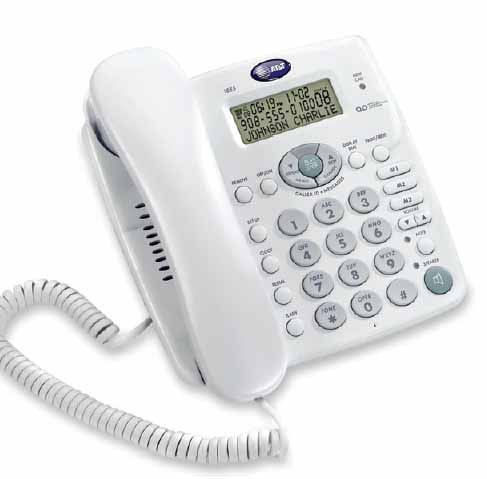 AT&T 1855 Corded Telephone with Digital Answering System and Speakerphone