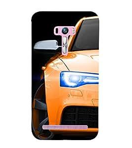 EPICCASE Orange Car Mobile Back Case Cover For Asus Zenfone Selfie (Designer Case)