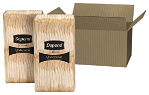 Depend Underwear for Women Maximum Absorbency Economy Plus Pack, Small and Medium, 120 Count by Depend