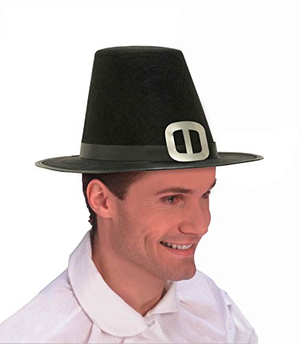 Forum Novelties Men's Novelty Adult Pilgrim Man Hat, Black, One Size - 1