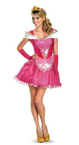Halloween 2017 Disney Costumes Plus Size & Standard Women's Costume Characters - Women's Costume CharactersDisguise Disney Deluxe Sassy Aurora Costume, Pink/White Dress - Standard Sizes