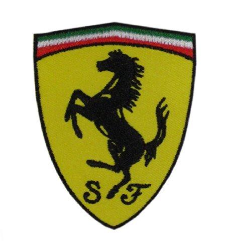 Aufnäher Aufbügler Patch Ferrari Rennsport Formel 1 Italien 9 cm / 7 cm