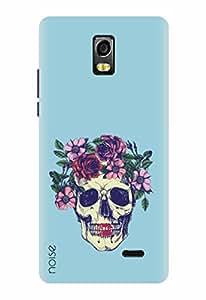 Noise Designer Printed Case / Cover for Lyf Water 10 / Patterns & Ethnic / Flowers Skull Design