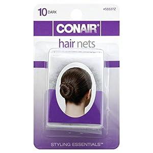 Conair Hair Nets, Dark 10 nets