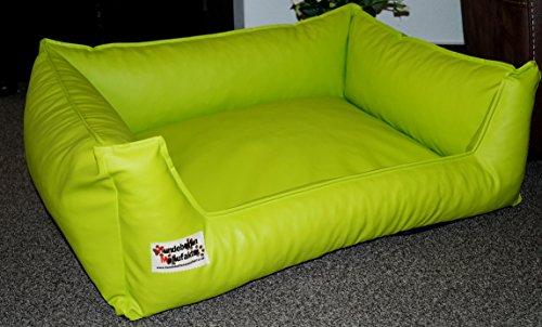 Artikelbild: Hundebett Hundesofa Schlafplatz Kunstleder Acceso 90 cm X 70 cm limone