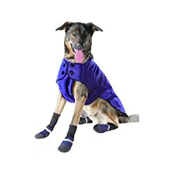 Muttluks 3-Layer Belted Winter Dog Coat Size 28 Blue