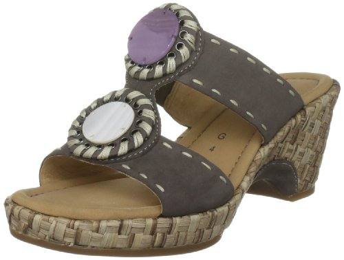 Gabor Women's Setting Nubuck Dark Fumo Slides Sandal 42.740.31 5.5 UK
