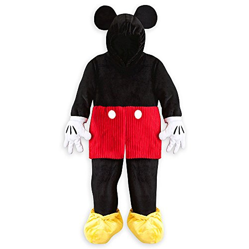 Disney Store Deluxe Mickey Mouse Plush Halloween Costume Kids Size M Medium 7 - 8
