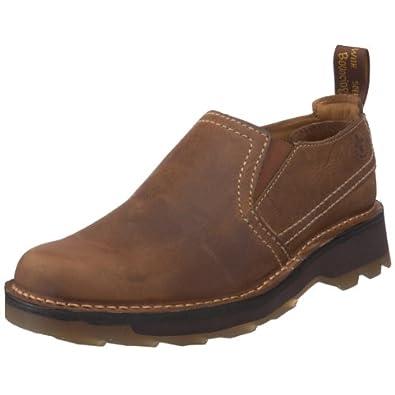 (快抢)Dr. Martens Men's Jethro Slip On马丁舒适气垫真皮皮鞋 棕$67.98