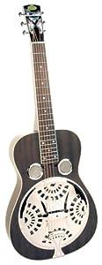 Regal Black Lightning Squareneck resonator Guitar (Black)