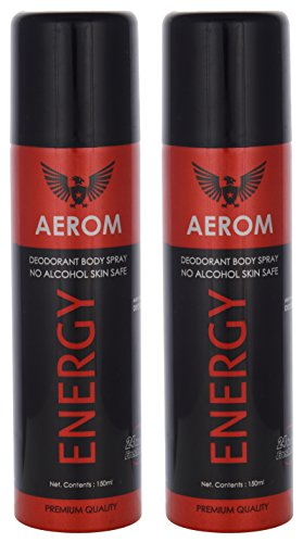 Aerom Energy Deodorant Body Spray, 300 Ml (Pack Of 2)