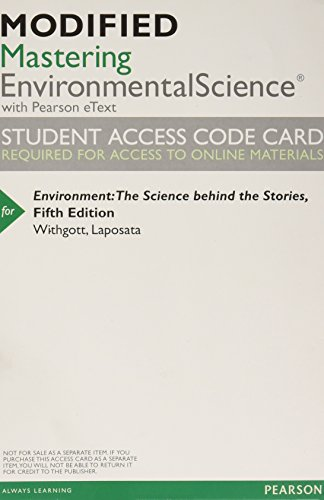 Image for Modified Mastering Environmental Science with Pearson eText -- ValuePack Access Card -- for Environment: The Science behind the Stories