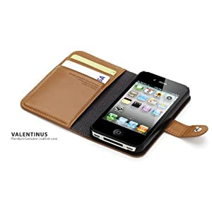 SPIGEN SGP iPhone 4S Brown Leather Cases